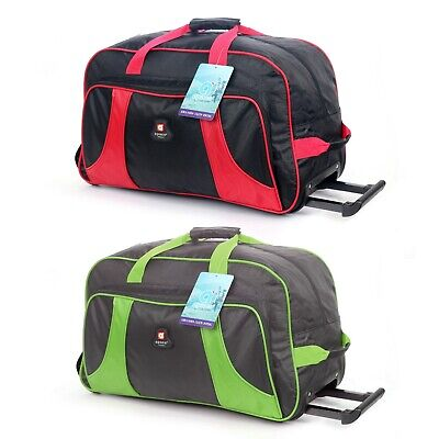 Rolling Wheeled Duffle Bag Tote Carry On Travel Suitcase Luggage Lighweight