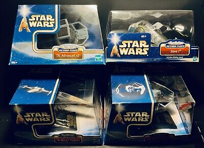 Star Wars Hasbro Action Fleet X Wing Slave 1 Tie Advanced 1 X2 Lot Micro Machine