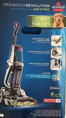 New in Box BISSELL ProHeat 2X Revolution Pet Pro Carpet Cleaner 1986