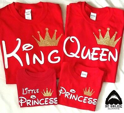 Disney Trip Shirt King Queen Prince Princess Christmas Family matching Tshirts