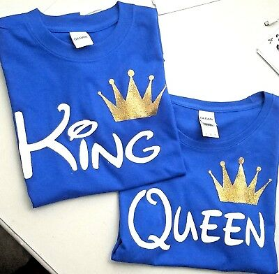 Disney King Queen Prince Princess Tshirts Mom Cute Love Couple matching T Shirt