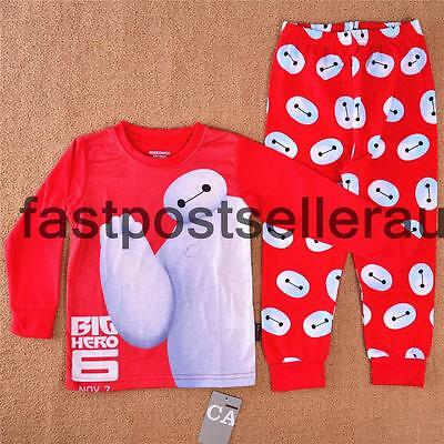 Big Hero 6 Baymax Boys Costume Pyjamas T-shirt PJ Sleepwear Kids 4-12 Years