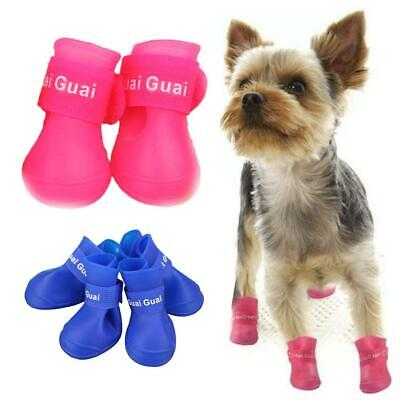 Pet Shoes Booties Rubber Dog Waterproof Rain Boots Top