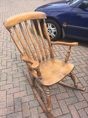 Stunning Antique rocking chair, Solid Elm