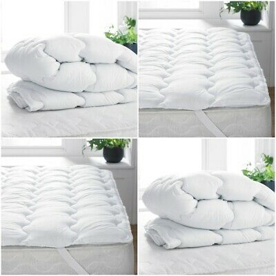 Extra Deep Quilted Mattress Topper 100% Microfiber Single Double King Sizes
