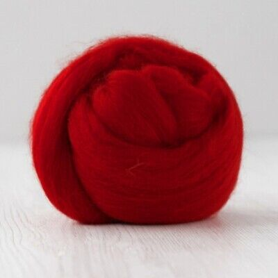 Australian Merino Wool Combed Top / Roving - DHG Organic - Fire Red