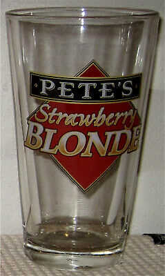 Pete's Brewing Strawberry Blonde Beer Pint Glass