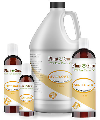 Sunflower Seed Oil HIGH OLEIC Cold Pressed Refined 100% Pure Organic