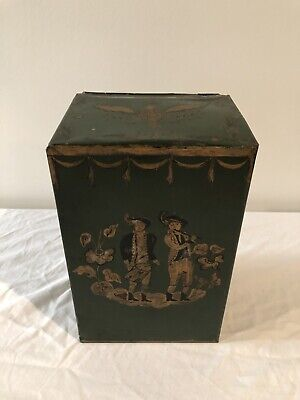 Antique Metal Tea Caddy Box