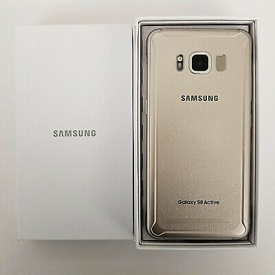 Samsung Galaxy S8 Active G892A 64Gb In Gold Fully Unlocked Gsm At&T And Global
