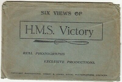 GB: Six Views of H.M.S. Victory by Wright & Logan, Naval Photographers, Southsea