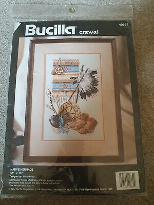 Bucilla Crewel Native Indian Heritage Embroidery Kit 1994 *New* 40869