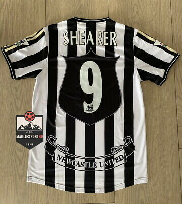 Maglia Shearer Newcastle 1997-1999 - Calcio Vintage Retro Alan Premier Football
