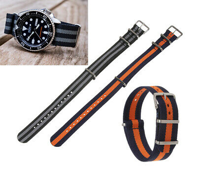 Mens Watch Nylon Fabric Band Sport Strap 22mm for Seiko Skx007 skx009