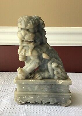 Vintage Chinese Soapstone Foo Dog, 7 inches tall