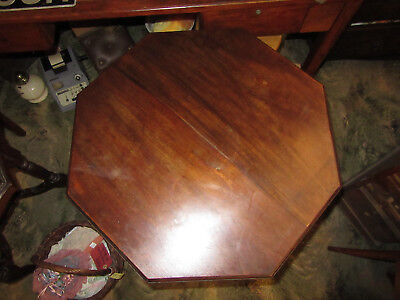 Late Victorian hexagon topped lamp / side table by William Whiteley London