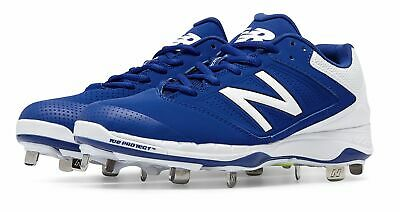 New Balance Low-Cut 4040v1 Metal Softball Cleat Womens Shoes Blue with White