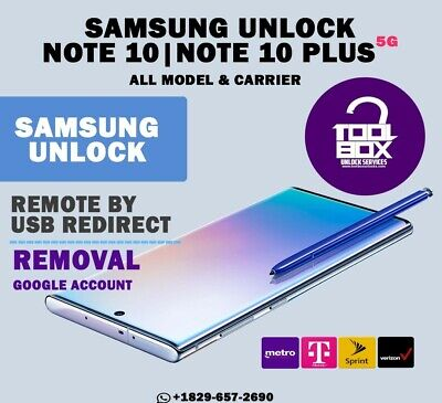 INSTANT! Samsung Galaxy Note 10/Note 10+ SPRINT VERIZON Remote Unlock Service
