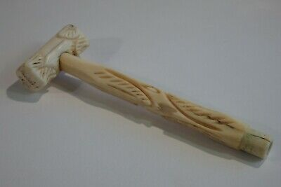 A Rare Antique Welsh * Gift From A Friend * Carved Parasol Handle... Dated 1875