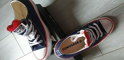 CHAUSSURES BASKETS SNEAKERS Converse toile rose et coeurs