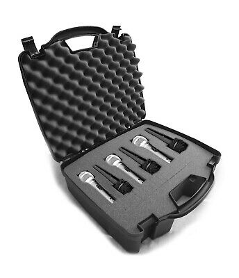 Cardioid Microphone Case fits Up to 6 Shure SM58 Microphones and Others in Foam