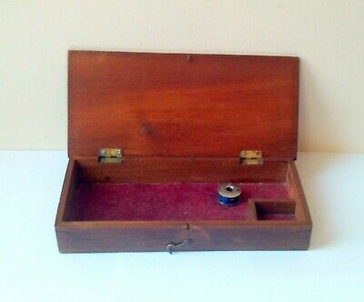 Antique Wooden Sewing Box