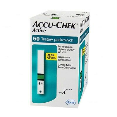 (100) Accu Chek ACTIVE Blood Glucose Sugar Test Strips for Meter Monitor (2 BOX)