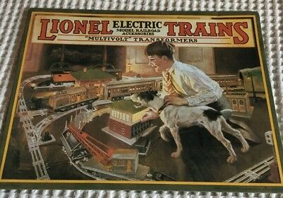 "tin metal Lionel Electric Trains  14""X11"