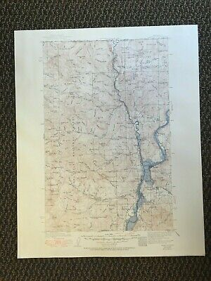 Vintage USGS Marcus Washington 1942 Topographic Map 1951