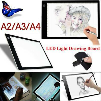A2 A3 A4 LED Drawing Board Light Box Art Copy Drawing Pad Table Stencil g0