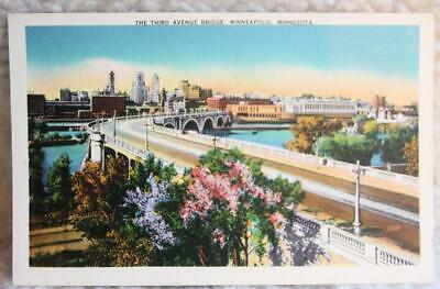Vintage Postcard - The Third Avenue Bridge, Minneapolis, Minn. - Unused