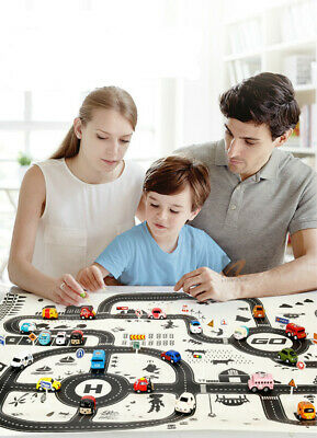 Kids Car Carpet City Road Play Mat Childrens Rug Toy Playmat Waterproof AU F6W0A