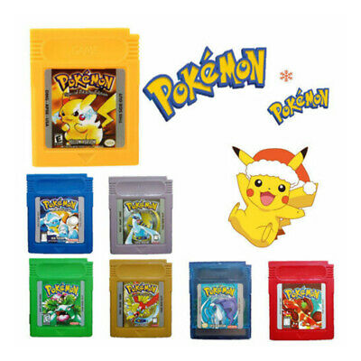 New Game Cards Carts For Nintendo Pokemon GBC Game Boy Color Version AU S0B8Z