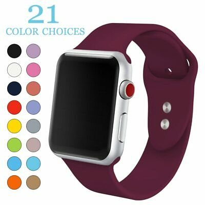 Silicone Sport Replacement Band Strap For Apple Watch Series 5  4 3 2 1 38/42 mm