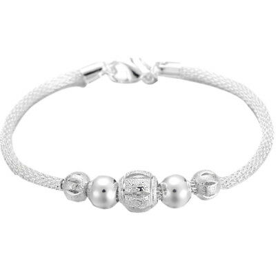 Infinity Charms Bracciale Lucky Bead Chain Donna Charm Bracciale Bangle Jewel  T