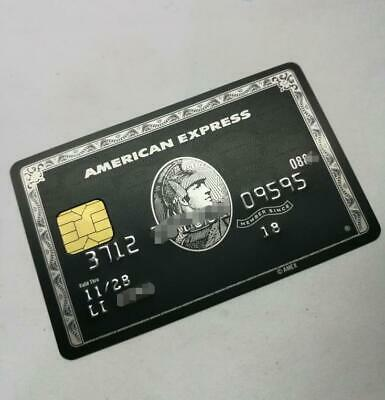 Collectors Item American Express Centurion Stainless steel Black Card not Real