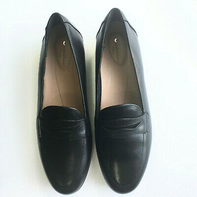 outlet on sale reputation first really cheap CLARKS WOMENS SZ 10 M Loafers Un Blush Go Black Leather Penny Unstructured  Shoes