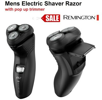 REMINGTON Electric Mens Shaver Razor Pop Up Trimmer Rotary Washable Head NEW
