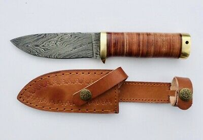 "Handmade custom Damascus Forged  KNIFE With Crafted 9"" Approx"
