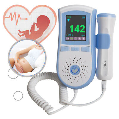 LCD Pocket Safe Fetal Doppler 3MHz Baby Heart Rate Monitor LCD Corazón Fetal