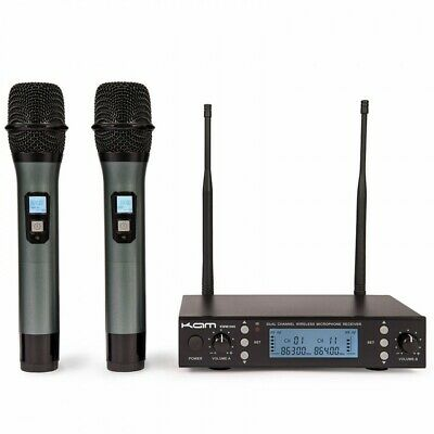 Kam KWM1940 Twin Channel Professional UHF Wireless Microphone System