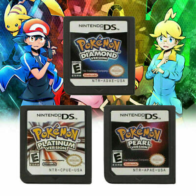 Pokemon Platinum Pearl Diamond Version Game Card For Nintendo NDS 3DS DSI NDSL