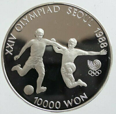 1988 Korea Seoul Olympics 10000 Won Silver Coin Proof From Japan Rare Mint G3