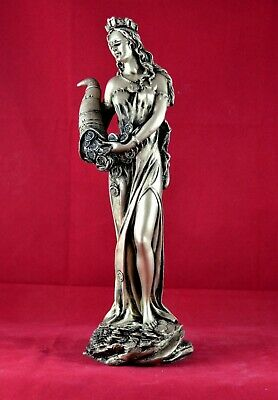 Fortuna Tyche Goddess of Luck,and Fortune Gold Patina  29 cm 11 inch Statue NEW