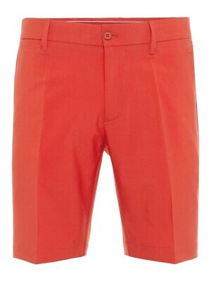 J. Lindeberg Hr. Eloy Tapered Micro Stretch Shorts rot