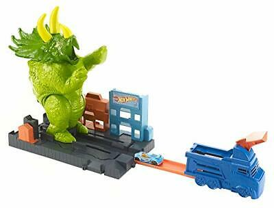 Hot wheels city playset pista attacco del triceratopo con lanciatore e (Bj2)