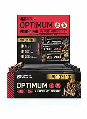 (35,41EUR/kg) Optimum Nutrition - Protein Bar Variety Pack 7 x 60g + 3 x 62g Rie
