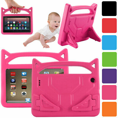 For Amazon Kindle Fire HD 10 8 7 2019 9th Gen Kids Shockproof Handle Stand Case