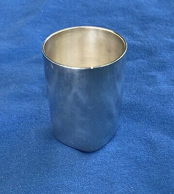 Antique Bruckmann & Sohne German Silver Jigger Or Shot Glass Cup Liquor Marked