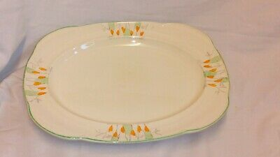 Vintage Woods Ivory Ware England Hand Painted Platter